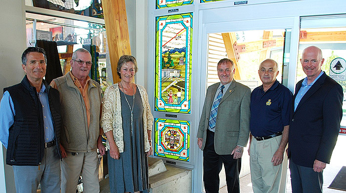 YQQs past commemorated by newest stained glass window