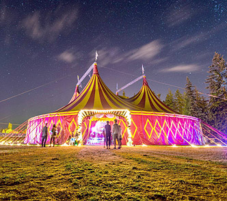 Big Top at the Atmosphere Gathering - Cove Photography